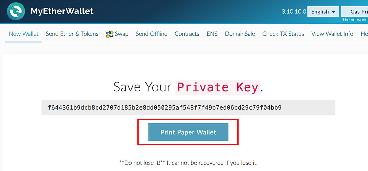 how to send cryptocurrency from paper wallet